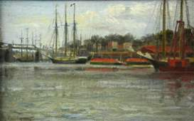 "Julia Redding Kelly ""Gloucester Harbor Painting"""