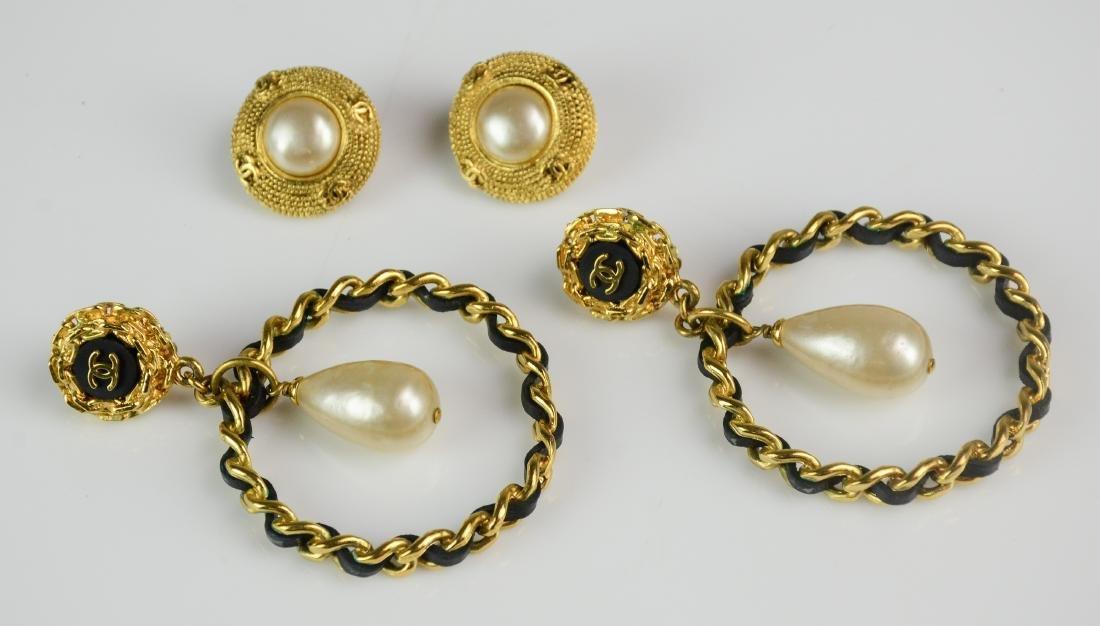 (2) Pairs Chanel Earrings