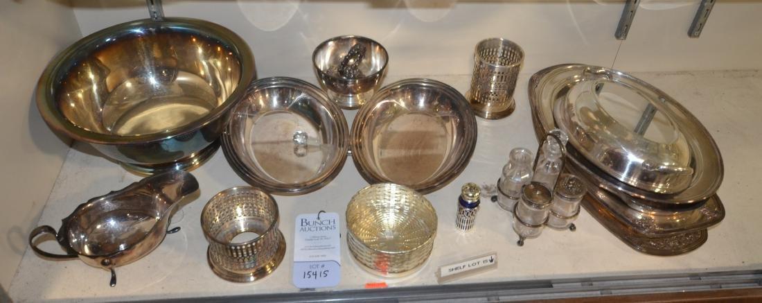 Shelf #15 - Silverplate Items