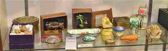 Shelf 73  15 Trinket Boxes