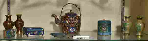 Shelf 97  9 Pcs Chinese Cloisonne