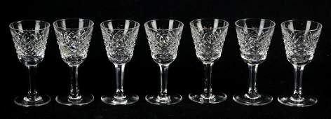 7 Waterford Alana Crystal Small Liqueur Glasses
