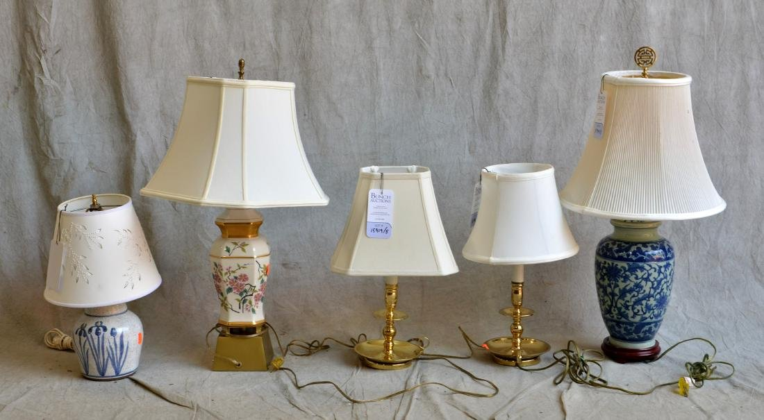 (5) Lamps Including Asian Lamps