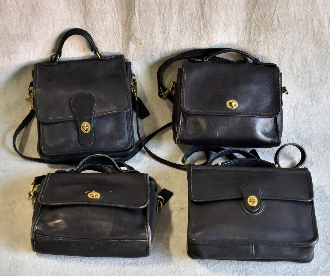 (4) Vintage Coach Bag Grouping