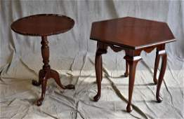 2 cherry tables by Harden