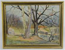 W H Gill Impressionist Landscape Painting