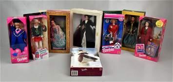 8 Barbie Dolls