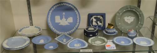 Shelf 3  18 Pcs Wedgwood Porcelain