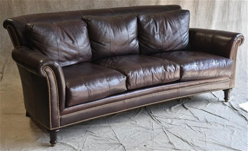 Ferguson Copeland Ltd burgundy leather sofa