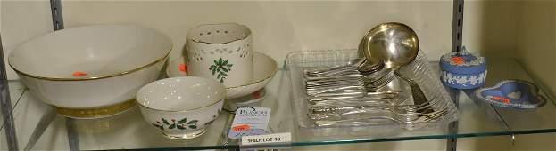 Shelf 98  Wedgwood Lenox Silver Plate