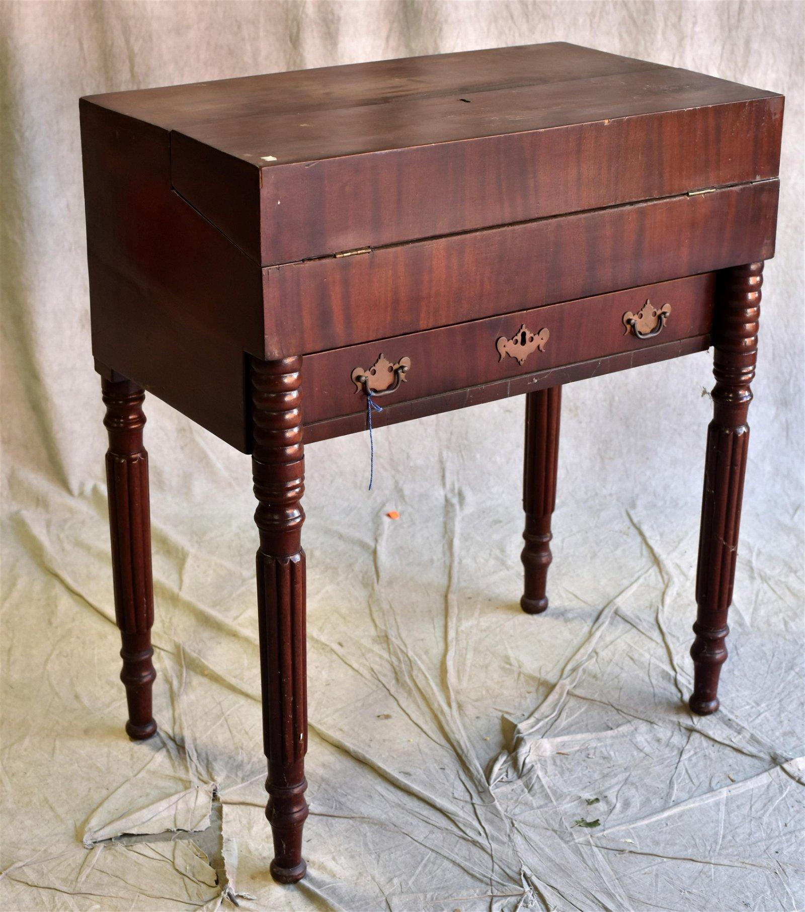 Sheraton Mahogany desk, c 1820