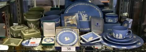 Shelf 38  25 Pcs Wedgwood Jasperware