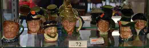 Shelf 72  7 Royal Doulton Toby Jugs