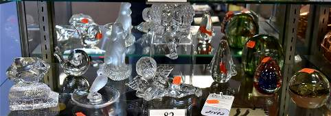 Shelf 82  Glass Paperweights  Figures