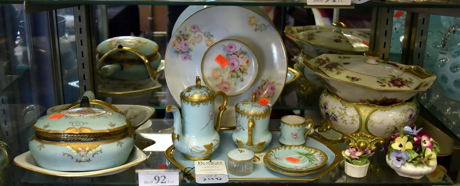 Shelf #92 - Porcelain Tea Set, Bowls and Dishes