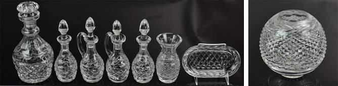 8 Pcs Waterford Crystal Glandore