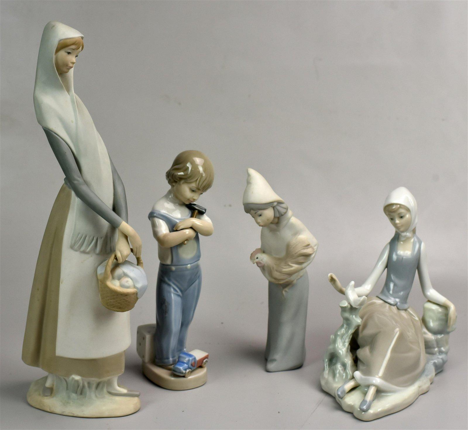 (4) Lladro Porcelain Figures