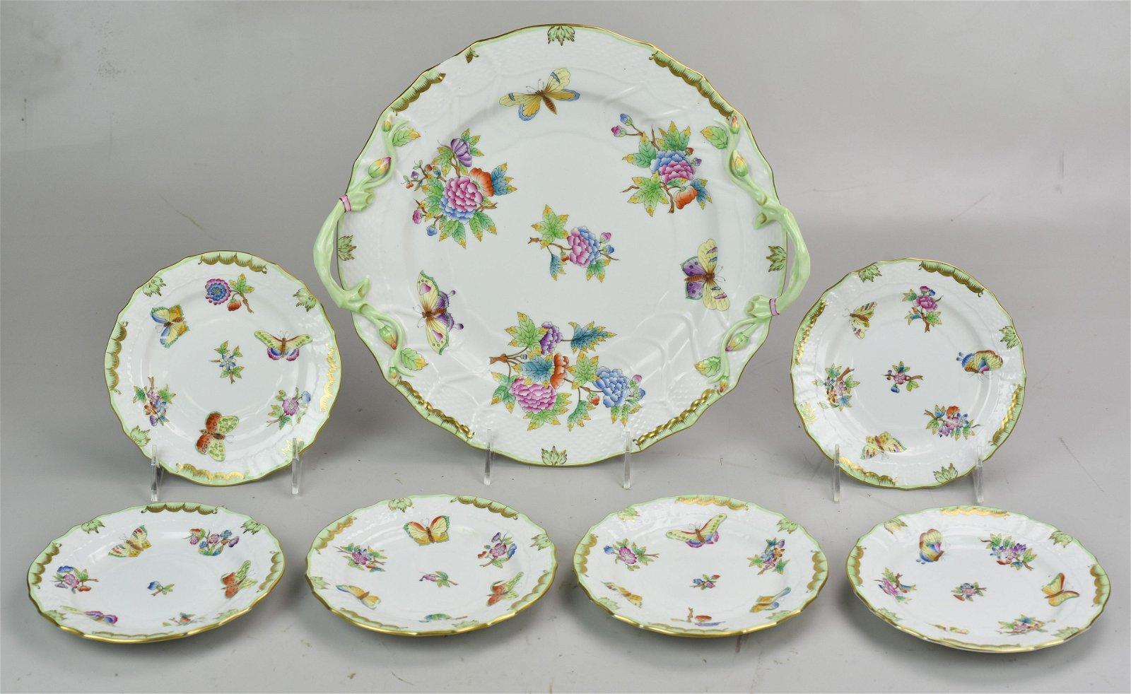 7-Pc Herend Queen Victoria Cake Set