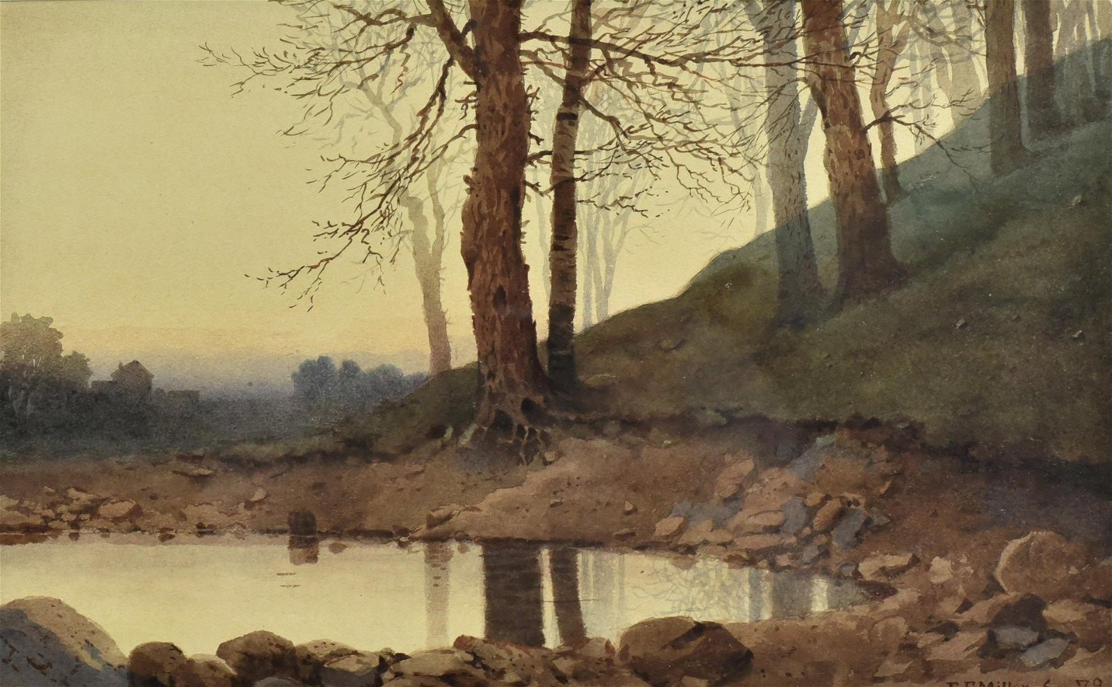 E. F. Miller Landscape Watercolor Painting