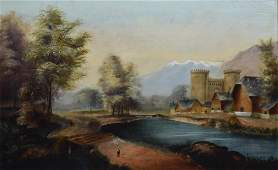 19th C. Continental Landscape Painting