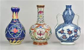 3 Chinese Porcelain Vases