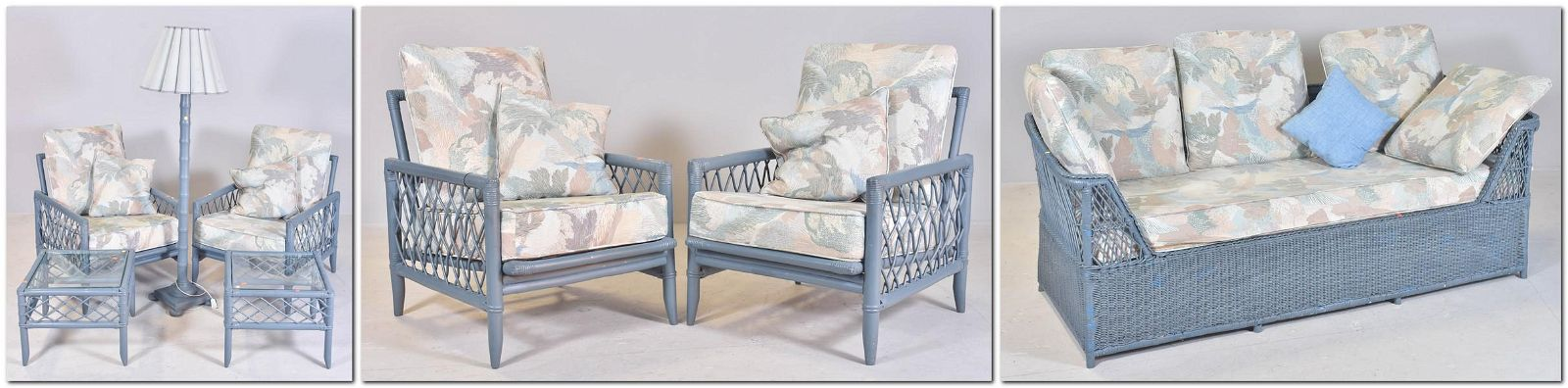 (6) pc Rattan and bamboo patio set