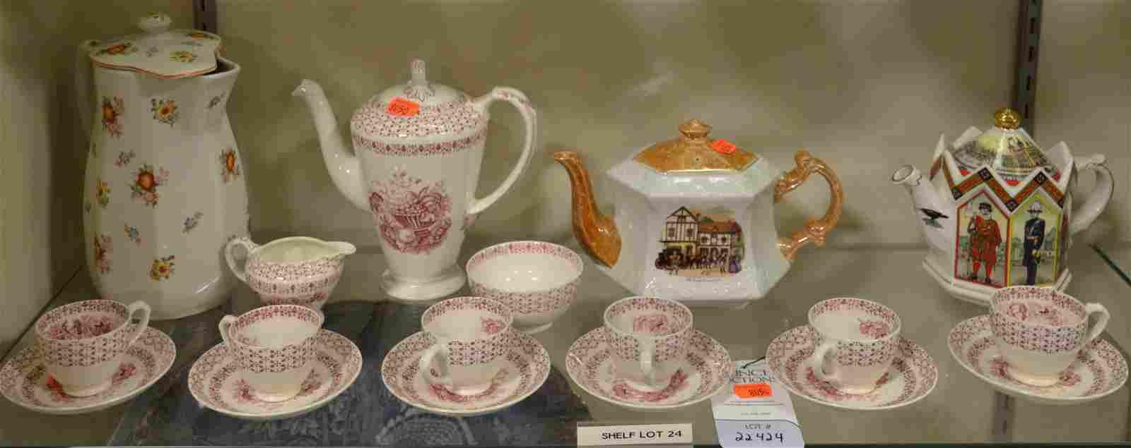 Shelf #24 - Tea Set and Teapots