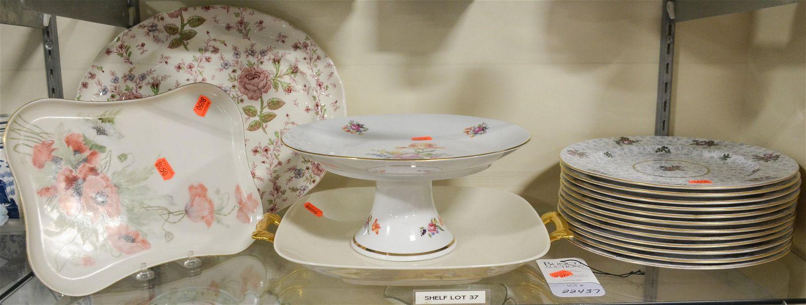 Shelf #37 - (16) Pcs Porcelain