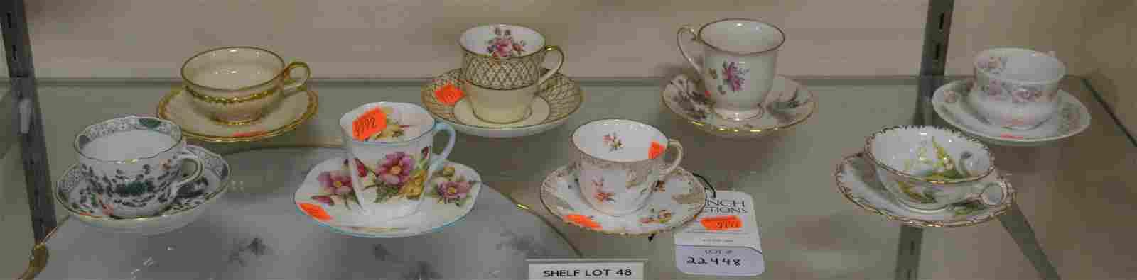 Shelf #48 - (8) Sets of Teacups and Saucers