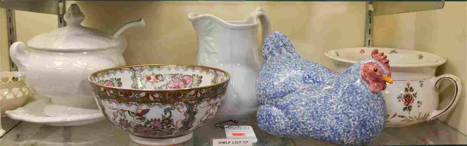Shelf #57 - (5) Pcs Pottery