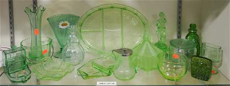 Shelf 69  16 Pcs Green Glass