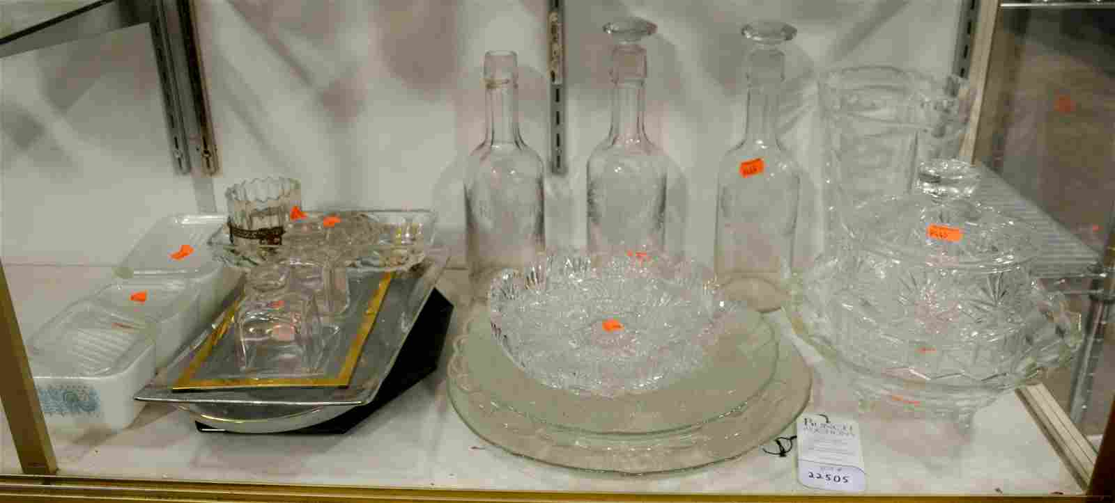 Crystal, Cut Glass and Glass Lot