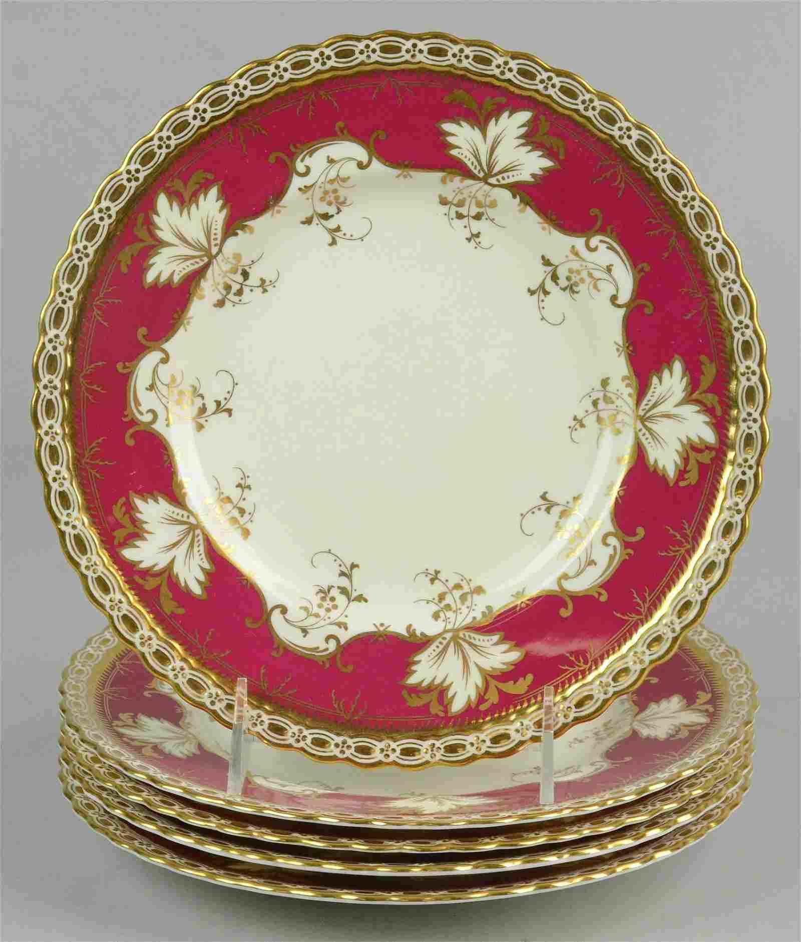 (5) Tiffany Mintons Porcelain Plates
