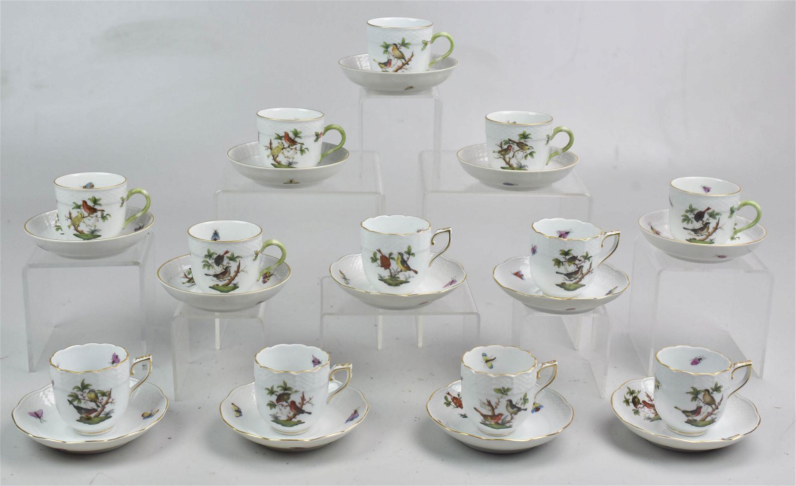 (12) Herend Demitasse Cup and Saucer