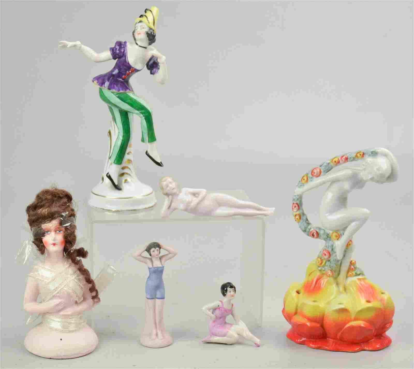 (6) Porcelain Female Figures