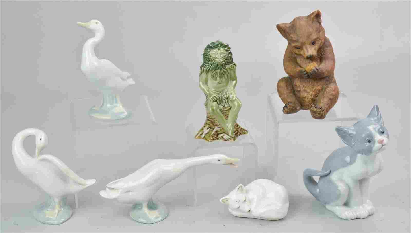 (7) Porcelain Animal Figures