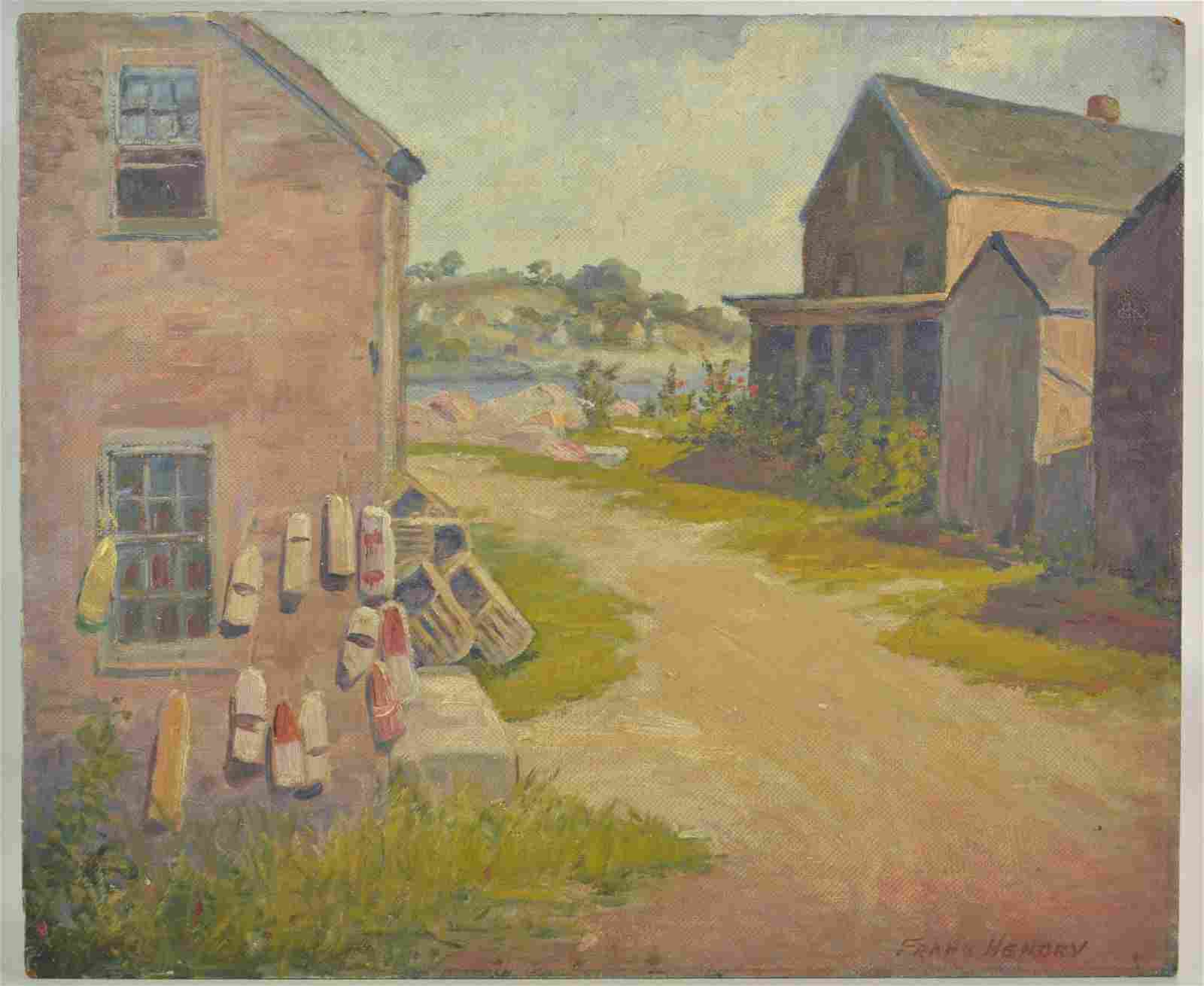 "Frank Hendry Painting ""Rockport 1932"""
