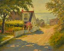 """Frank Hendry Painting """"New England Cottage"""""""