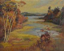 """Frank Hendry """"Autumn on the Charles River"""""""