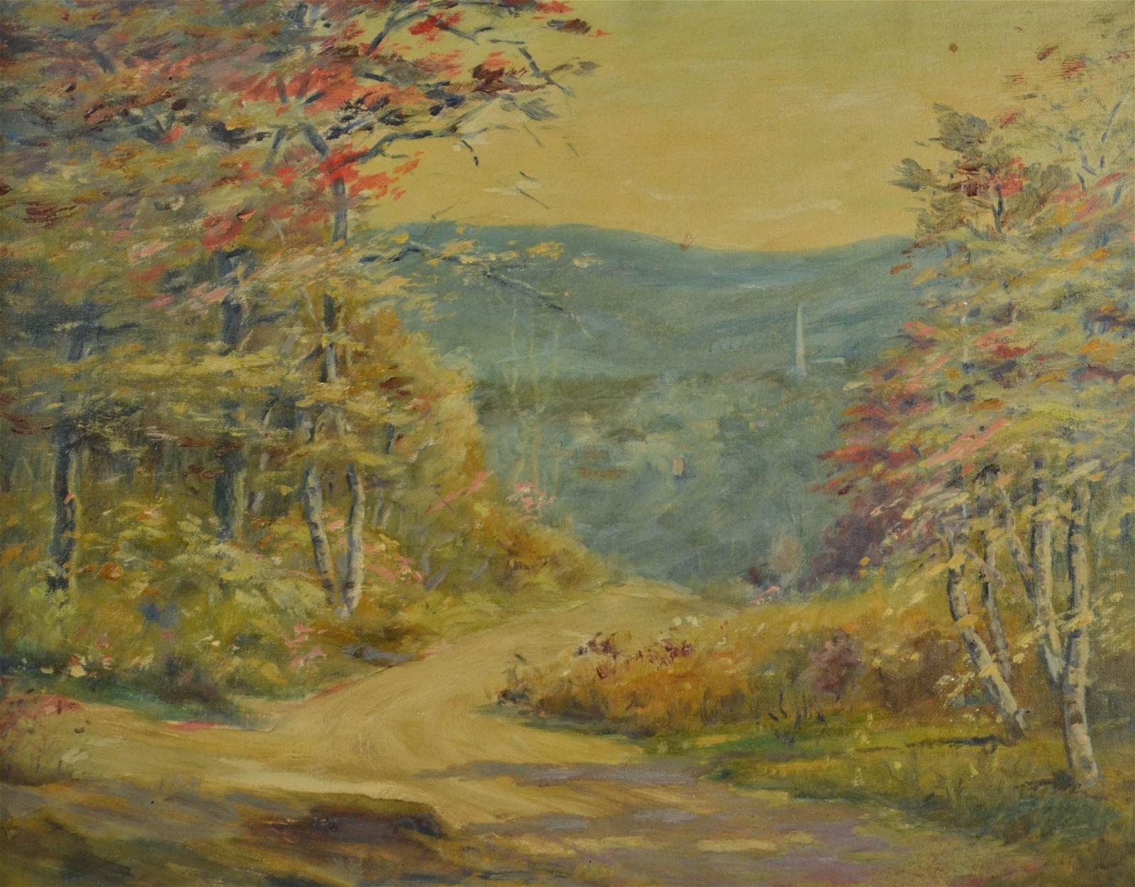 "Frank Hendry ""Blue Hill Vista"" Autumn Landscape"