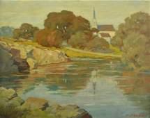 "Frank Hendry ""Peaceful Landscape"""