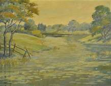 "Frank Hendry ""New England River Landscape"""