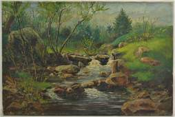 "Frank Hendry "" landscape with Stream"""