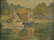 "Frank Hendry ""A Snug Harbor, Menemsha, MA"""
