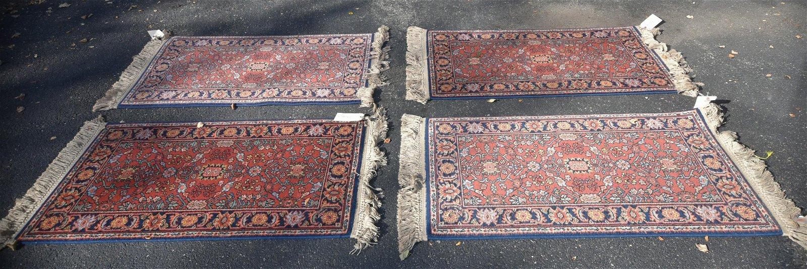 """(4) 2'2"""" x 4' Karastan Serapi rugs"""