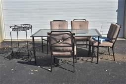 6 pc Contemporary patio dining set