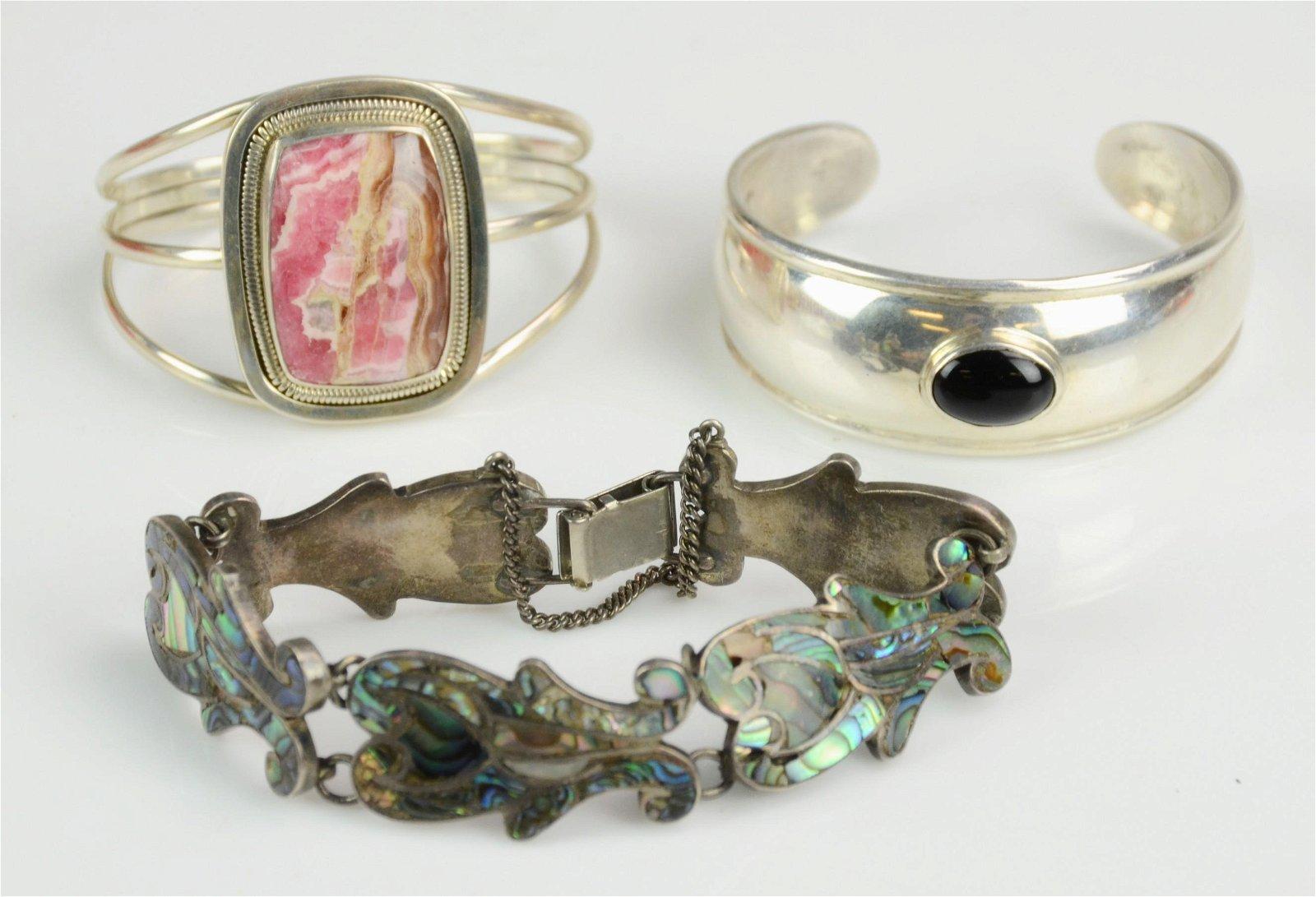 (3) Sterling Silver Bracelets