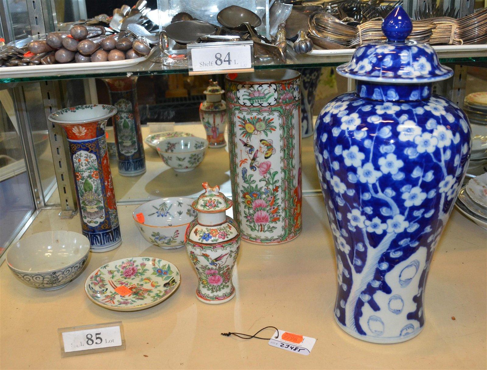 Shelf #85 - (7) Pcs. Asian Porcelain