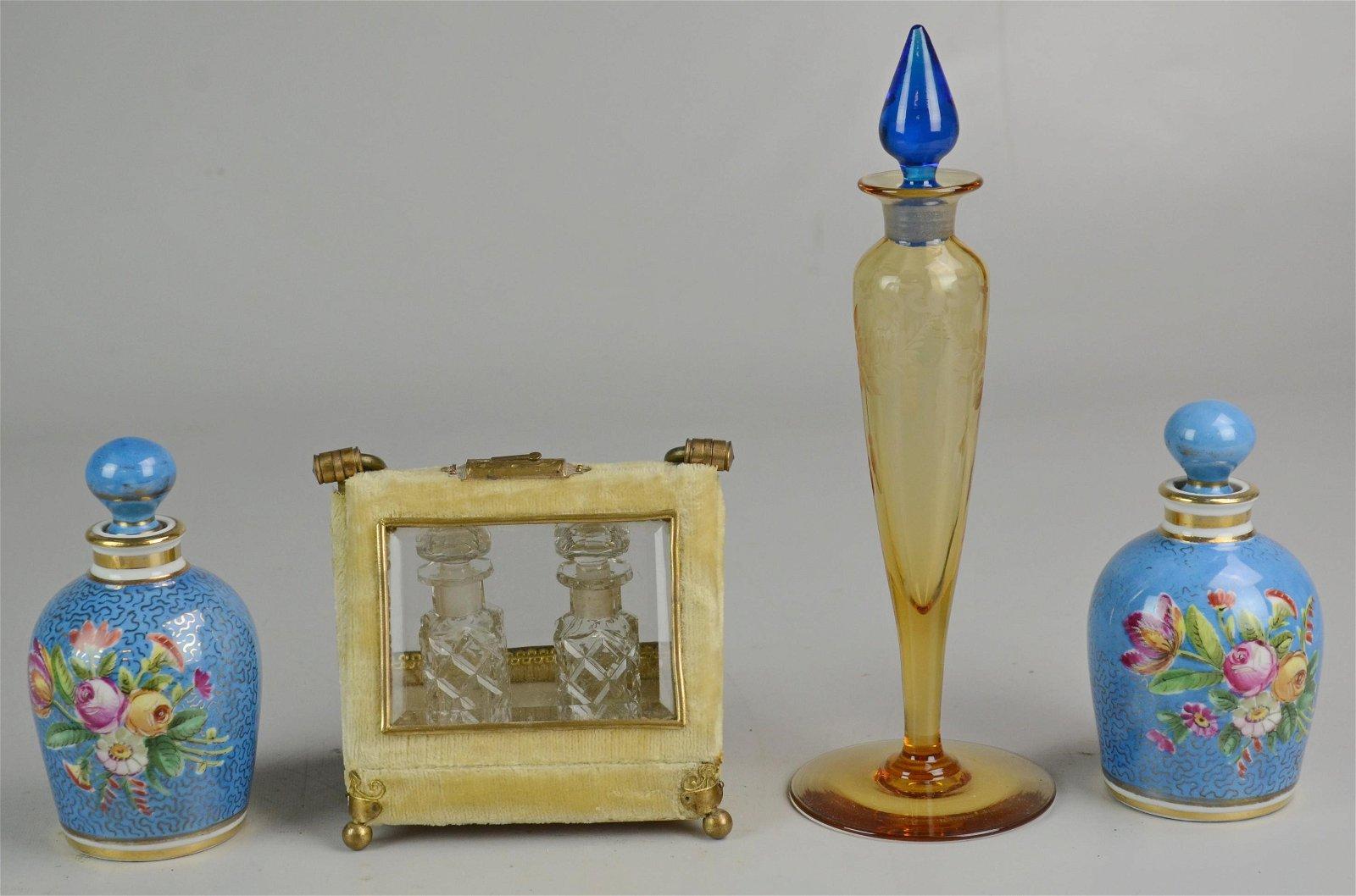 (4) Perfume Bottles