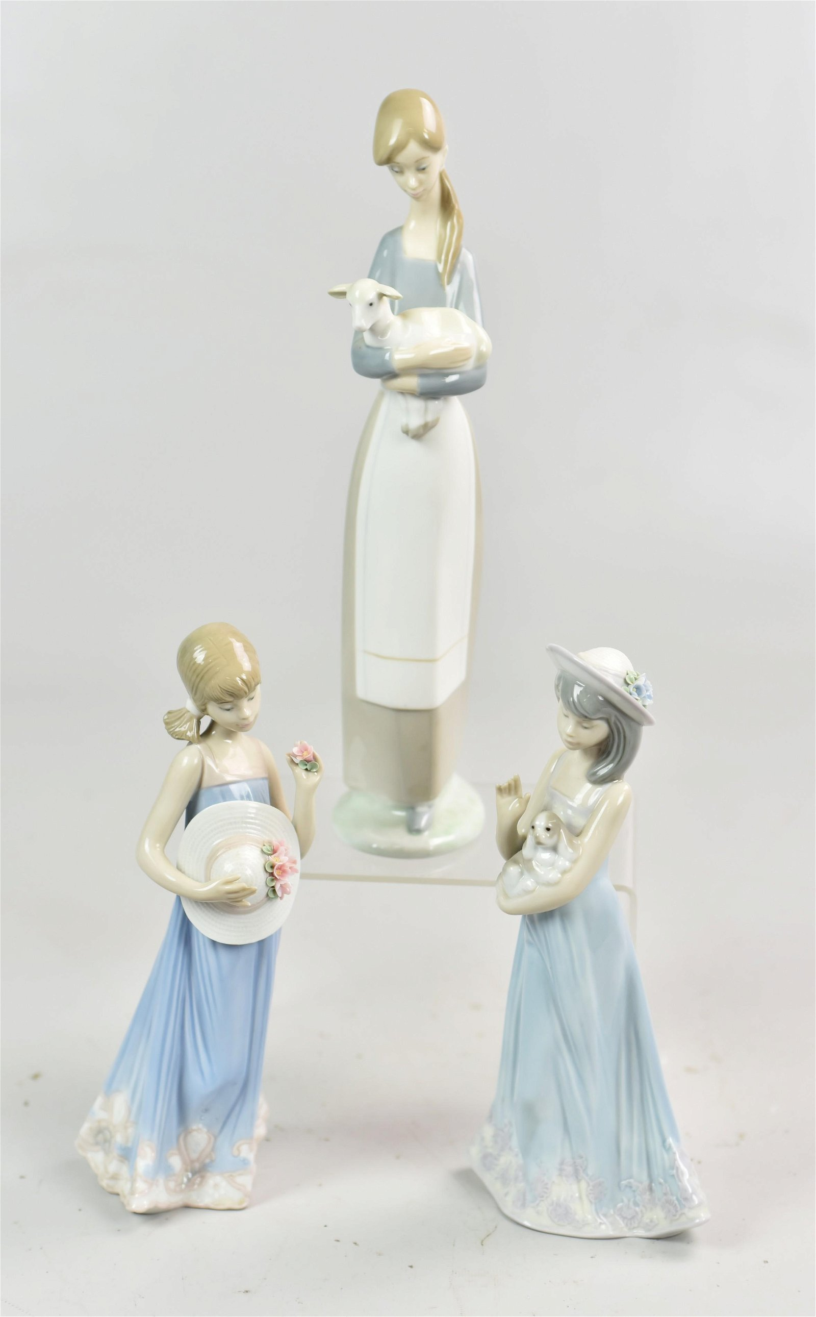 (3) Lladro Porcelain Figures